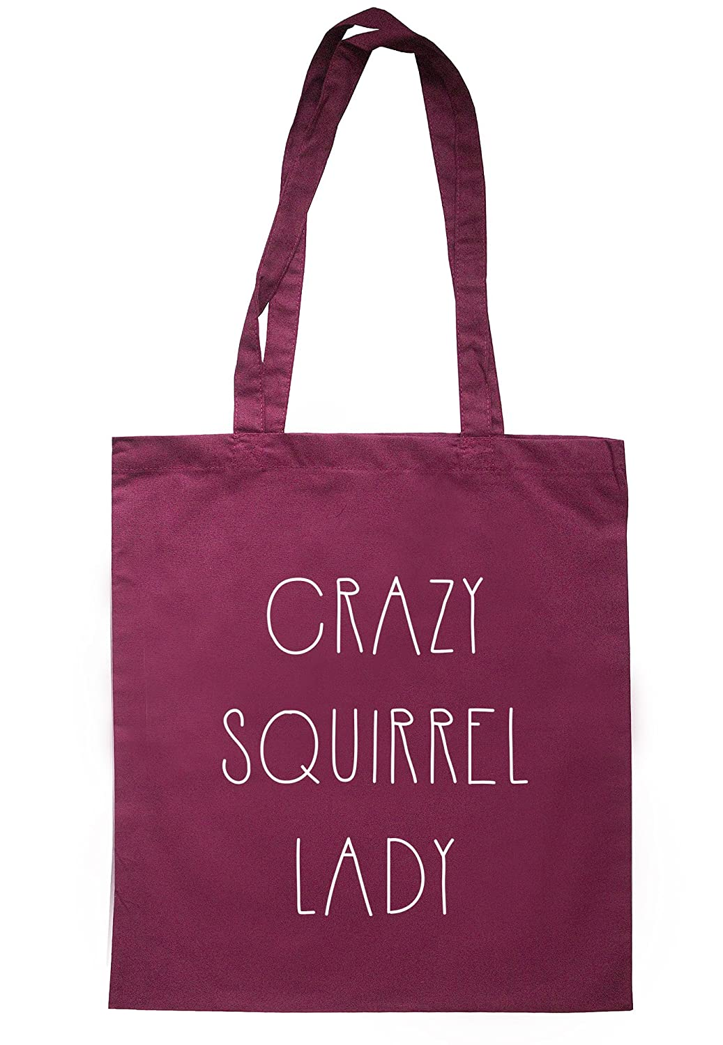 illustratedidentity Crazy Squirrel Lady Tote Bag 37.5cm x 42cm with long handles TB0382-TB-NV