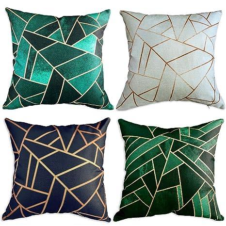 Amazon.com: Multiart Juego de 4 fundas de almohada ...