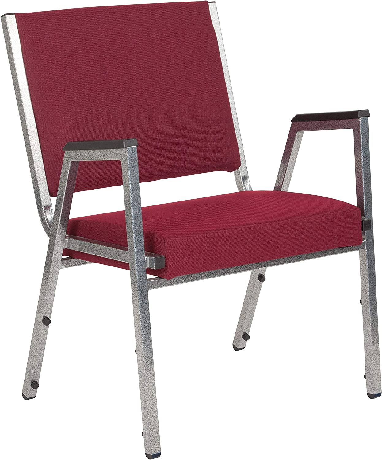 Flash Furniture HERCULES Series 1500 lb. Rated Burgundy Antimicrobial Fabric Bariatric Medical Reception Arm Chair