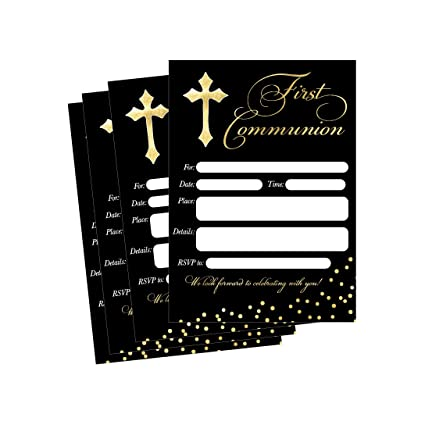 50 First Communion Invitations 1st First Communion Invites Holy