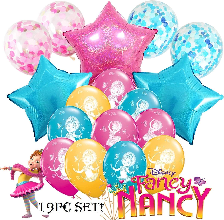 5pc FANCY NANCY ROOM DECORATING KIT ~Birthday Party Supplies Swirls Banner