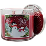 Bath & Body Works Home 'Tis The Season Scented Candle 3 Wick 14.5 Oz Limited Edition Winter Holiday 2015
