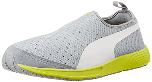 2d824e6af139 Puma Unisex FTR TF-Racer Slip-on Quarry and White Mesh Running Shoes -