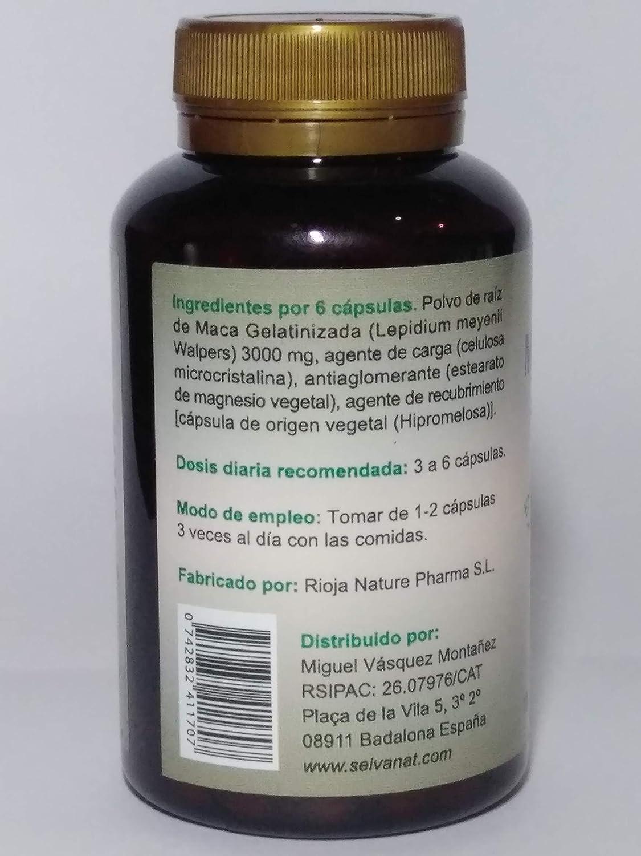 Maca Andina Gelatinizada. Máxima asimilación. Sin gluten No-OMG Orgánica y Vegana. Energía, Fertilidad y Salud Sexual para mujeres y hombres.