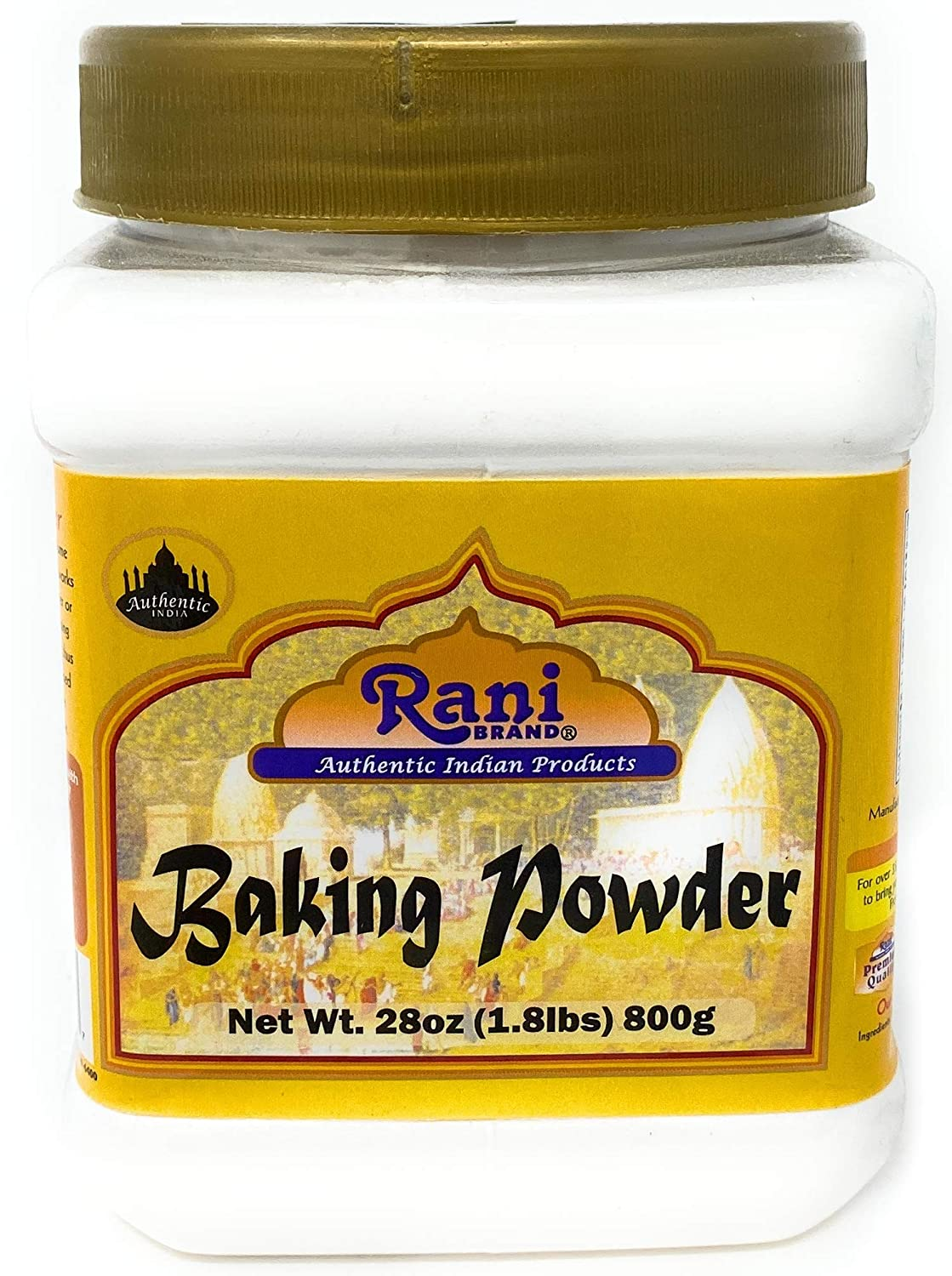 Rani Baking Powder 28 Ounce (800g) 1.8lbs ~ Used for cooking, NON-GMO | Indian Origin | Gluten Friendly