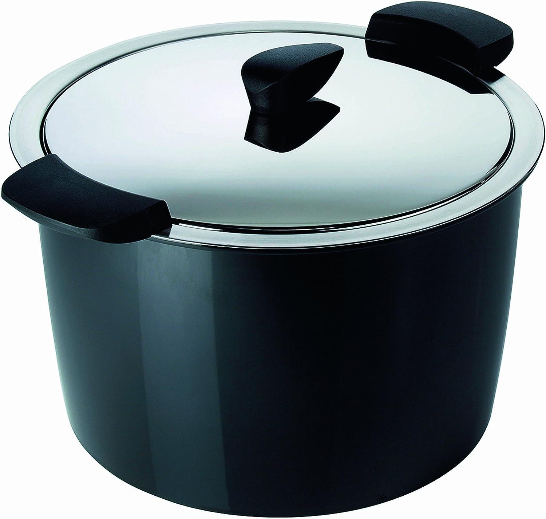 Kuhn Rikon 5-Liter Hotpan Stockpot, Black