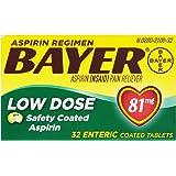 Bayer Aspirin Regimen Low Dose 81mg Enteric Coated Tablets, 32-Count (Pack of 6)