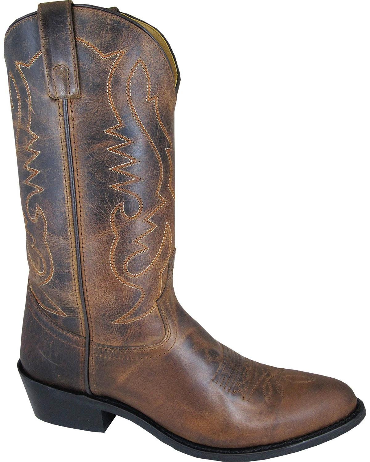 Smoky Mountain Men's Denver Cowboy Boot Round Toe Brown 13 D(M) US