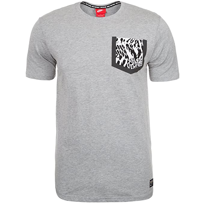 f7b7bbd8 Amazon.com: Nike Men's F.C. Pocket T-Shirt (Medium, Dark Grey Heather):  Sports & Outdoors