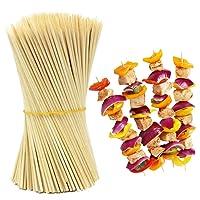 HOKIPO Bamboo Skewer Stick Set, 10 inches (90-100 Sticks)