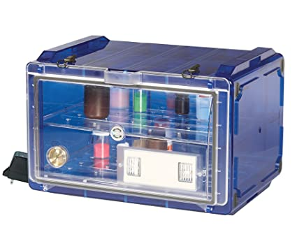 Bel-Art Secador Blue 4.0 Horizontal Auto-Desiccator Cabinet with Clear Door; 120V, 1.9 cu. ft. (F42074-0117): Science Lab Desiccator Accessories: ...