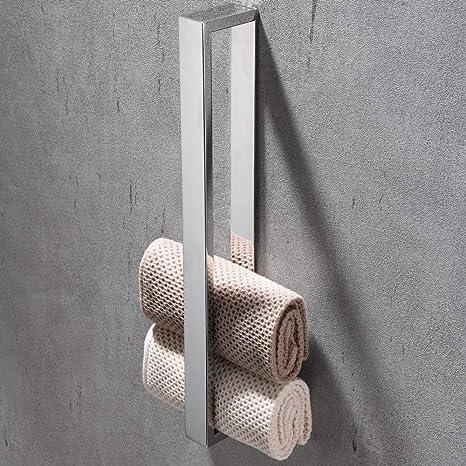 Schwarz Celbon 40cm Handtuchhalter Ohne Bohren Badezimmer ...