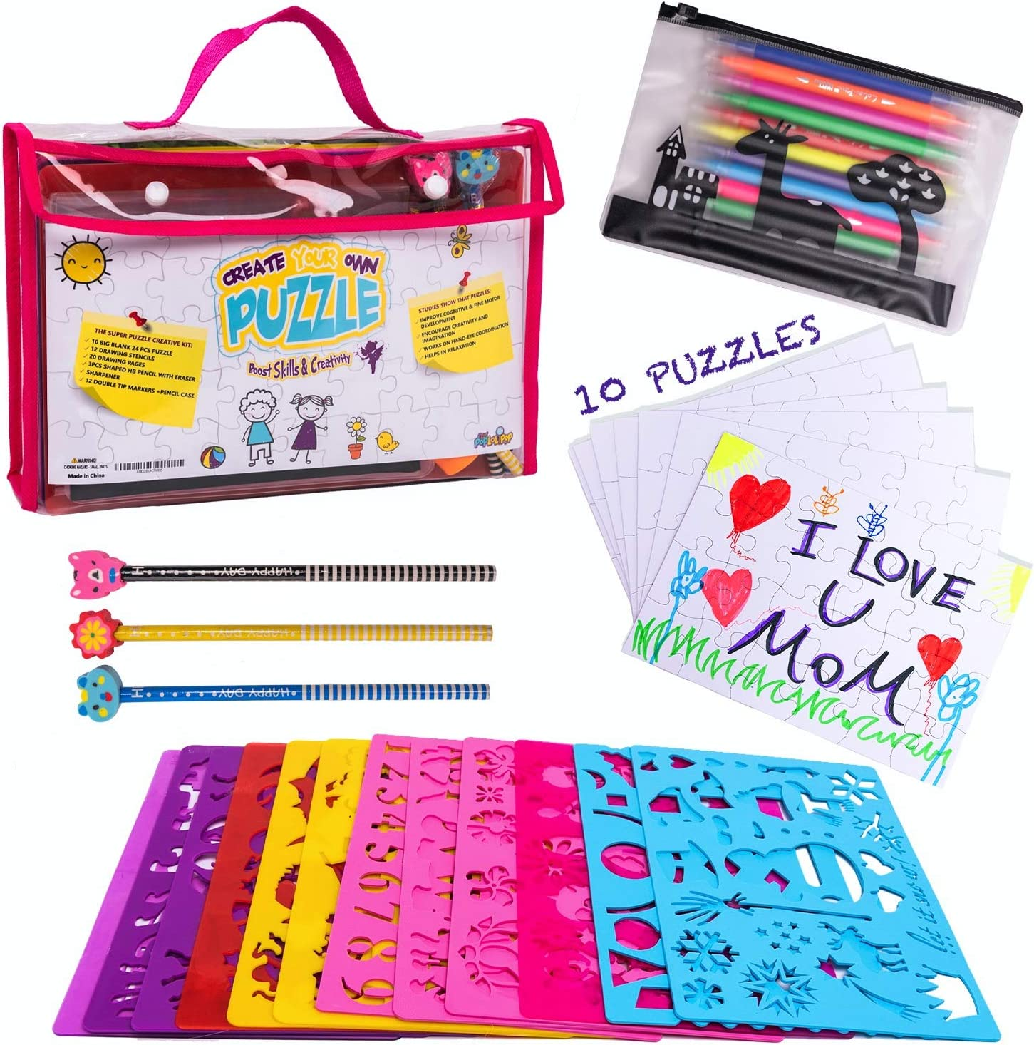 Coloring Kit Combo Kids Art /& Crafts Creativity Painting Gift Set Drawing Book