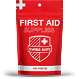 Small Basic First Aid Kit Supplies (100-Piece) : The Most Lightweight and Portable Emergency First Aid Kit