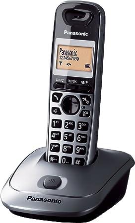 Panasonic KX-TG2511JTM - Teléfono (DECT, LCD, AAA, Pared) Color Negro, Gris, Naranja [Versión Importada]: Amazon.es: Electrónica
