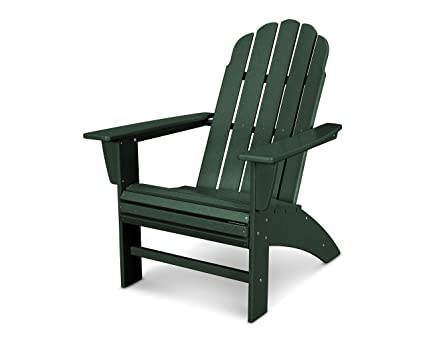 60c92ac7e4 POLYWOOD Vineyard Curveback Adirondack Chair (Green)