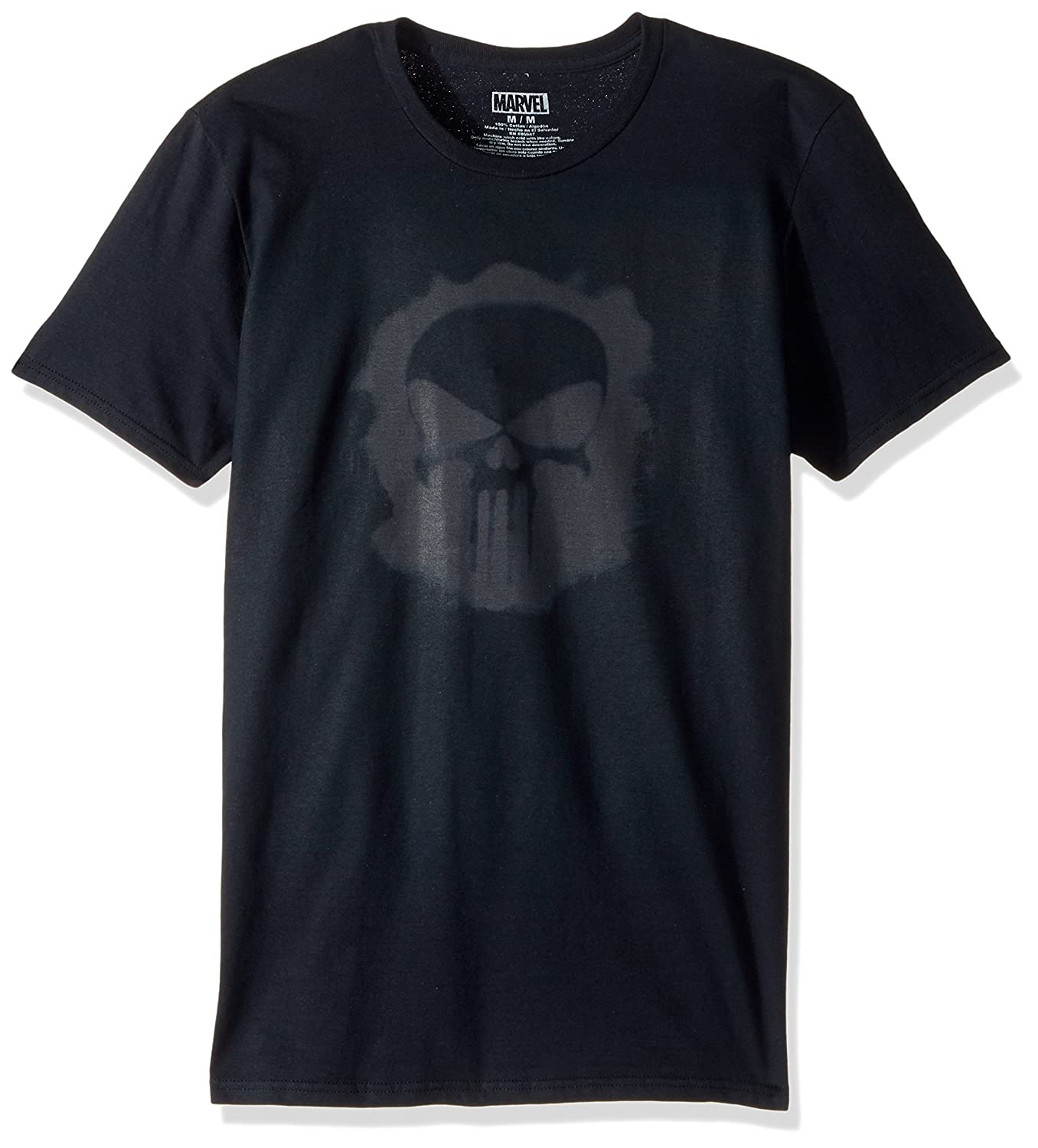 Marvel Mens Punisher Logo with Smaller Logos Short Sleeve Graphic T-Shirt 4UN81580AZ