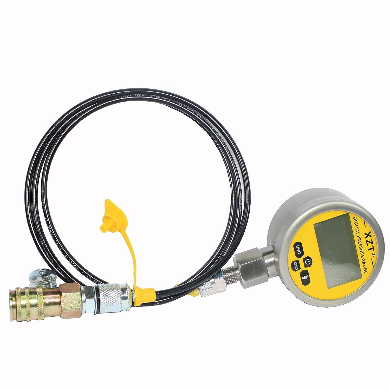 XZT Fluid Technology Ltd XZT Kom-10000psi Digital Hydraulic Pressure Test Coupling Kit for Komatsu Hitachi Excavator 10000PSI Komatsu-10000psi