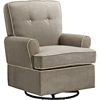 Baby Relax The Tinsley Nursery Swivel Glider Chair, Beige - Color: Beige