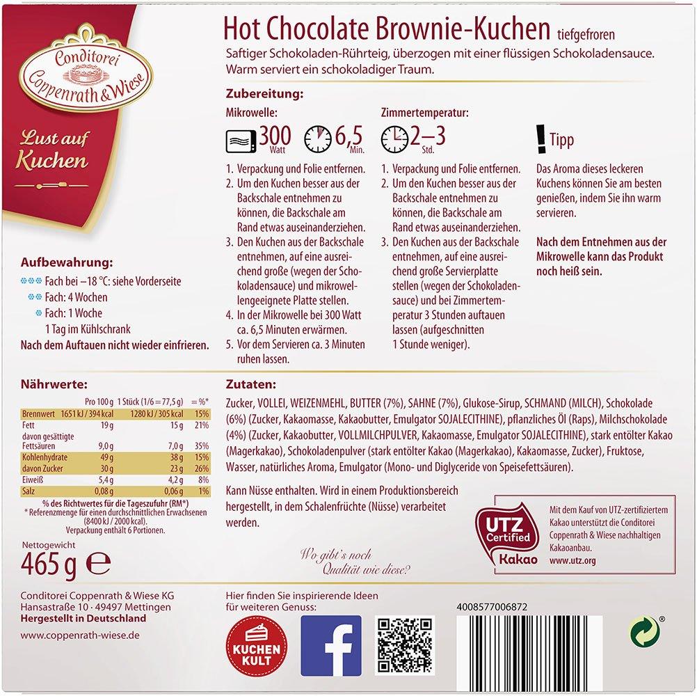 Conditorei Coppenrath Wiese Lust Auf Kuchen Hot Chocolate Brownie