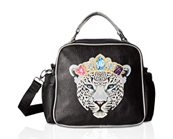843221e30b8d Betsey Johnson Women s Snow Queen of the Jungle Lunch Tote Black Multi One  Size