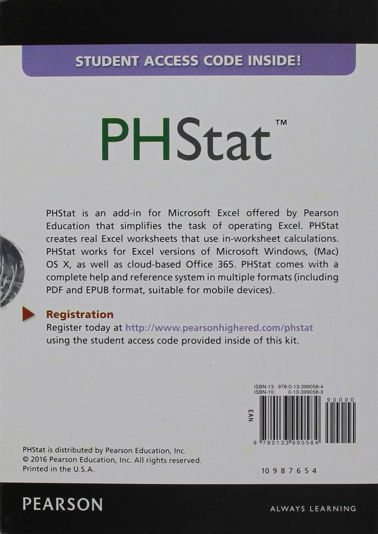 Phstat for Pearson David F Stephan Mark L Berenson David M – Pearson Education Inc Worksheets