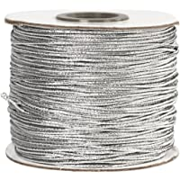 Cordón elástico, grosor 1 mm, plata, 100m