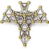 148pcs Magnet Building Blocks Construction Set Puzzle Stacking Game Sculpture Desk Toys (Gold)