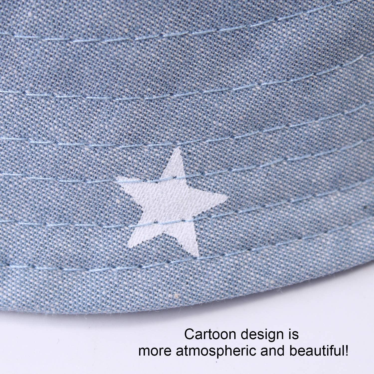 DRESHOW Baby Sun Hat Toddler Sun Protection Animal Cap Unisex Summer Bucket Hat with Chin Strap UPF 50+