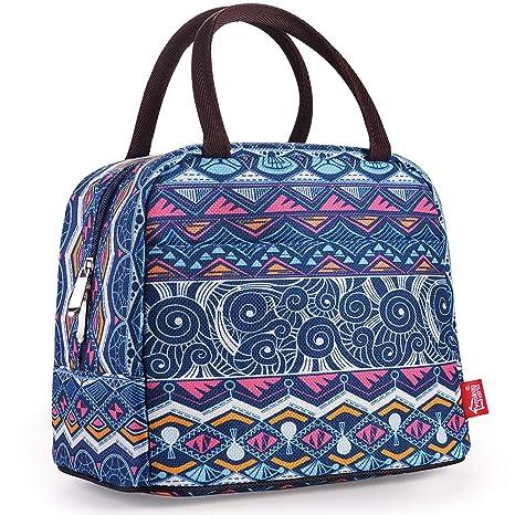 Amazon.com: Bolsas de almuerzo abiertas para mujer., m, Azul ...