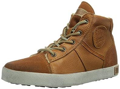 Blackstone 6 INCH WORKER ON FOXING KIDS CK02, Unisex-Kinder Sneaker, Braun (ember), EU 34