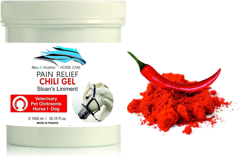 Gel de Chili Caballo 1000 ml Bálsamo Caballo Linimento Anti Dolor con Capsaicina