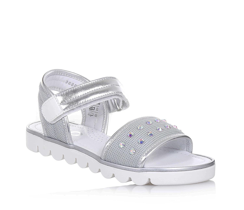 CIAO BIMBI - Graue Sandale aus in Glanzleder und Stoff, in aus jedem Detail gepflegt, Stil, Qualität, Mädchen, Damen - 5f351f