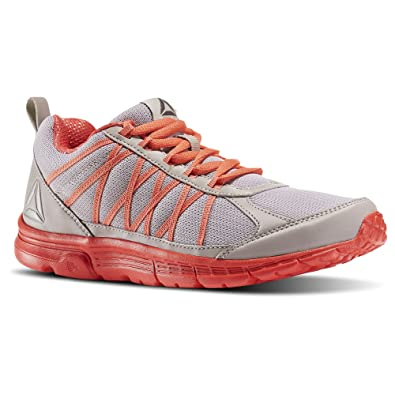 a346c53f3a1b87 Reebok Womens Speedlux 2.0 Running Shoes Whisper Grey FIRE Coral Pewter  (5.5)