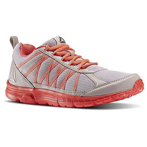 1d0df8d53ede Reebok Womens Speedlux 2.0 Running Shoes Whisper Grey FIRE Coral Pewter  (5.5)