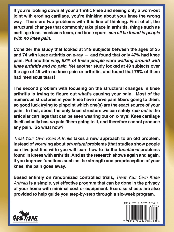 Treat Your Own Knee Arthritis: Jim Johnson: 9781457540172: Amazon: Books