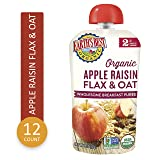 Earth's Best Organic Stage 2 Baby Food, Apple Raisin Breakfast, 4 oz. Pouch (Pack of 12)