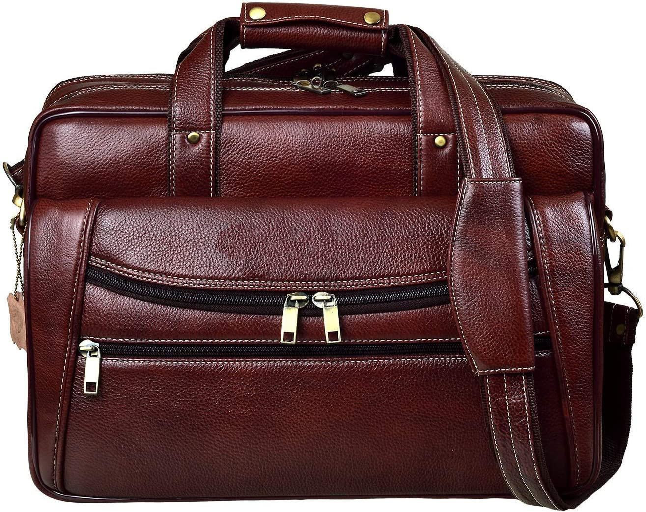 Terre Brown Georgia Genuine Leather Messanger Bag