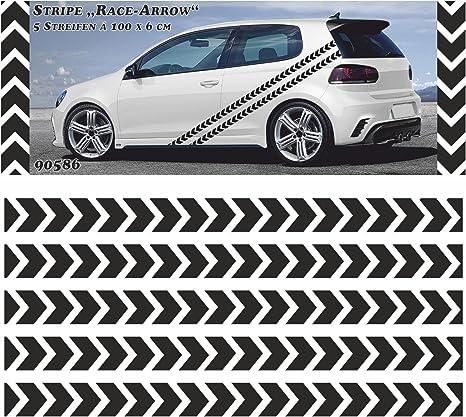 Carstyling Xxl Race Stripe Arrow Streifen 5 M X 60 Mm Schneller Versand Innerhalb 24 Stunden Auto
