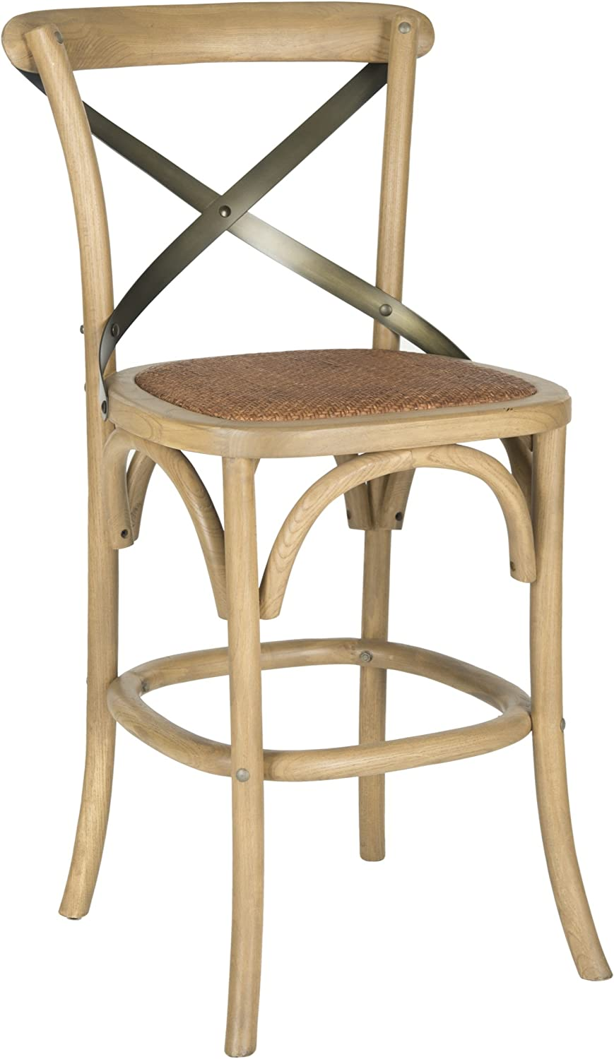 Safavieh American Homes Collection Eleanor Weathered Oak 24.4- Inch Counter Stool