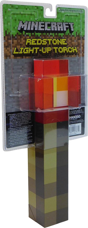 ThinkGeek Minecraft Redstone Torch Wall Light Lamp 10 cm: Amazon