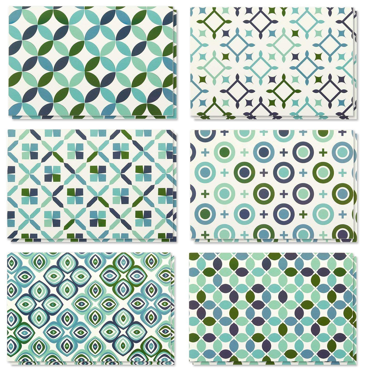 All Occasion Circular Geometric Design Greeting Cards 48 Pack Note