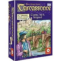Asmodée CARC08 - Jeu de stratégie - Extension 6 - Comte + Roi + Brigand pour Carcassonne
