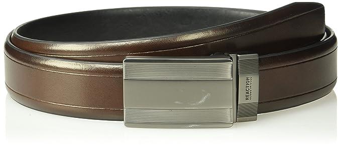 Kenneth Cole REACTION Men's Reversible Plaque Buckle Belt   X-Large size