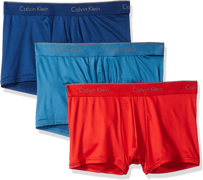 Calvin Klein Men's Underwear Microfiber Stretch 3 Pack Trunk