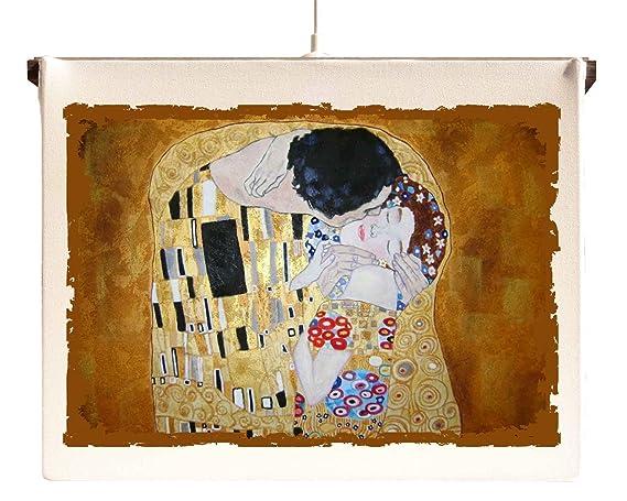 Lampada quadro a sospensione da soffitto il bacio di klimt: amazon
