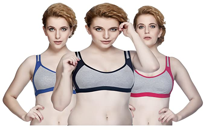 2d7ad955d06d6 Nutex Sangini Women s Cotton Seamless Non-Padded Full Coverage Sport Bra  (7620-Sporty