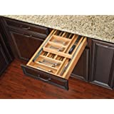 Rev-A-Shelf - 4WTCD-18SC-1 - Medium Double Tiered Cutlery Drawer with Soft-Close Slides