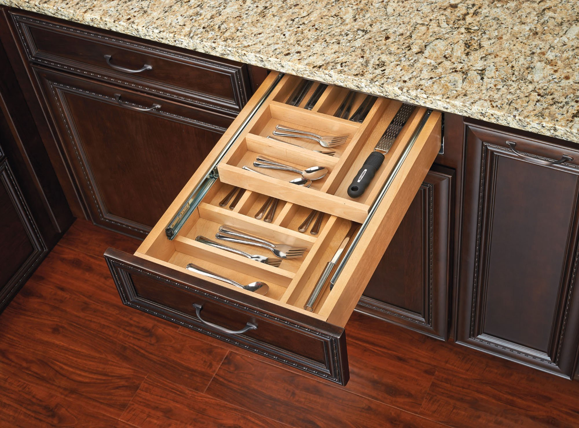 Rev-A-Shelf - 4WTCD-15SC-1 - Small Double Tiered Cutlery Drawer with Soft-Close Slides