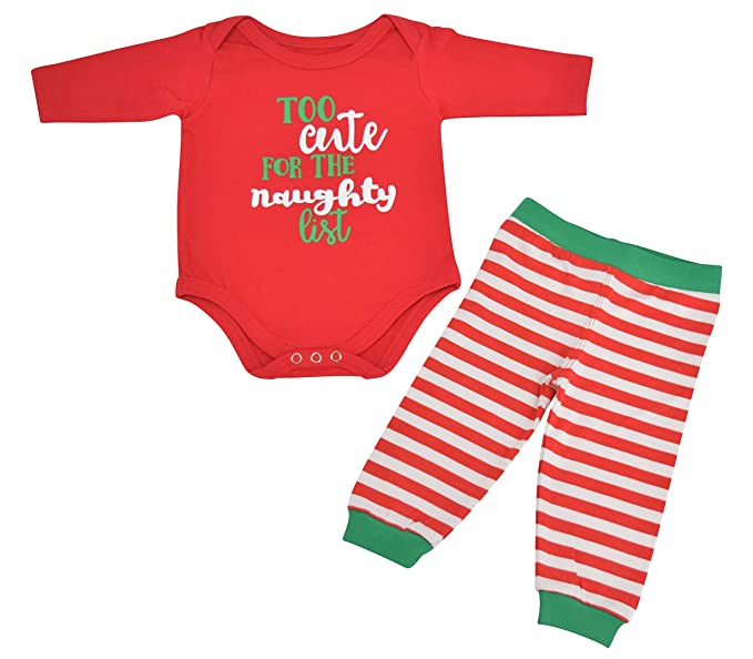 Unique Baby Unisex 1st Christmas Outfit Naughty List Onesie Layette (Newborn)  Red - Amazon.com: Unique Baby Unisex 1st Christmas Outfit Naughty List